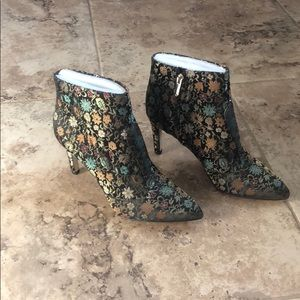 Fabulous floral fabric booties